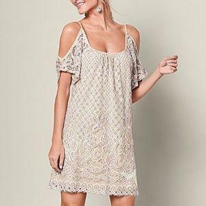 Venus Cold Shoulder Lace Dress